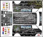 Medusa the Gorgon themed vinyl SKIN Kit & Stickers To Fit Tamiya Lunchbox R/C Monster Truck